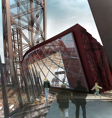 ברחבי הקומה הוחלפו הריהוט, התאורה, הריצוף והמעקות (באדיבות Moatti-Rivière architectes)