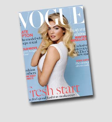 """""""ווג הוא מגזין על פנטזיה ובריחה מהחיים האמיתיים"""". קייט אפטון על שער המגזין"""