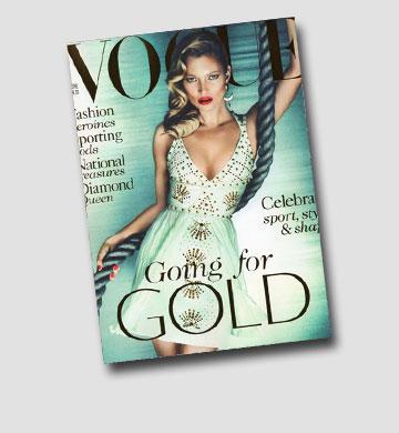 הדוגמנית האהובה על שולמן: קייט מוס על שער ווג הבריטי
