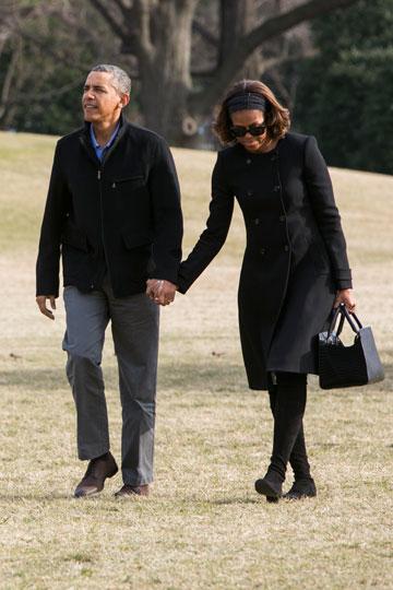 יצליחו לפתור את הבעיות, או יתגרשו ב-2016? ברק ומישל אובאמה (צילום: gettyimages)