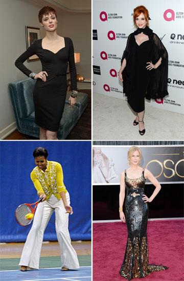 הסלבס שלבשו לורן סקוט: קוקו רושה, כריסטינה הנדריקס, ניקול קידמן ומישל אובמה (צילום: gettyimages)