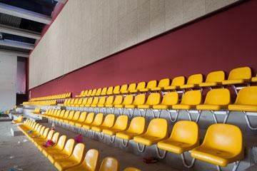 האולם יכיל 200 מושבים צהובים. אפשר יהיה לראות גם את הנוף (צילום: טל ניסים)