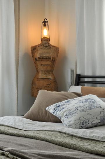 3. מצעים וטקסטיל בטקסטורות שונות. חדר שינה בעיצוב סטודיו רפלוקטורה. צילום: שי אדם