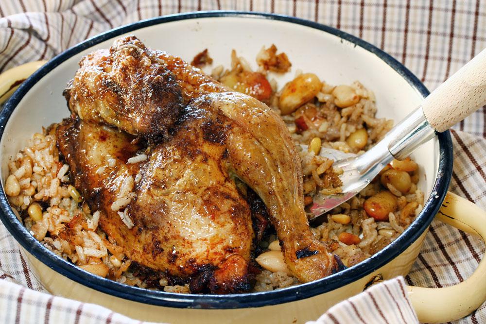 עוף עם אורז בתנור (צילום: אסנת לסטר)