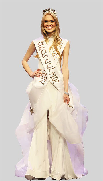 בערב ההכתרה, בשמלה של אפרת קליג (צילום: ששון משה)