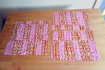 גיזרו 3 פיסות בד (מתוך הספר ''בד נייר חוט ומחט'')