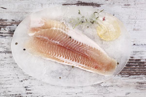 כדי שהדג לא יתייבש, הקפיאו אותו בתוך מים (צילום: thinkstock)