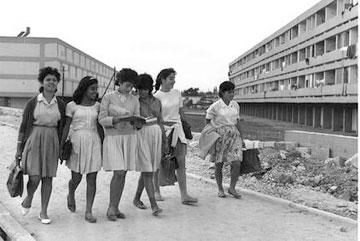 ''שיכוני יסקי'' בקרית גת, 1964. הפכו לסלאמס ונהרסו (צילום: פרידן משה)