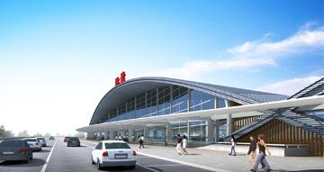 שדה התעופה המתוכנן בגווילין, סין. זכייה בתחרות (הדמיה: Nir Sivan)