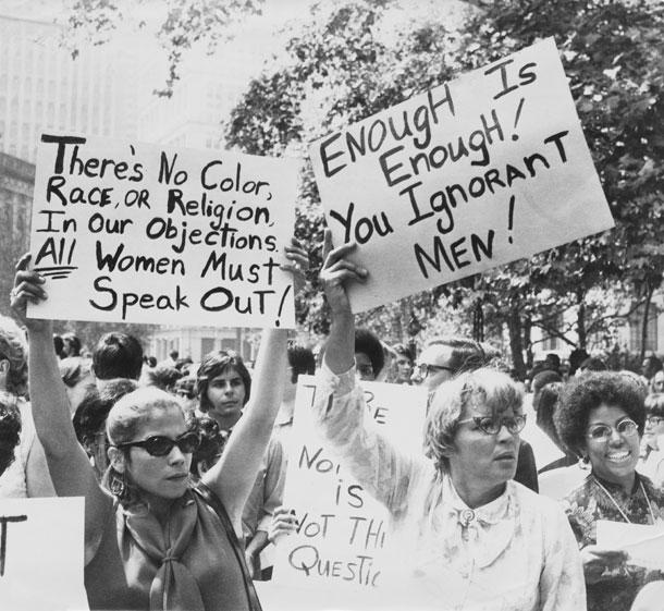 כמה דברים השתנו מאז 1909, לא? הפגנה למען זכויות נשים במאה שעברה (צילום: gettyimages)