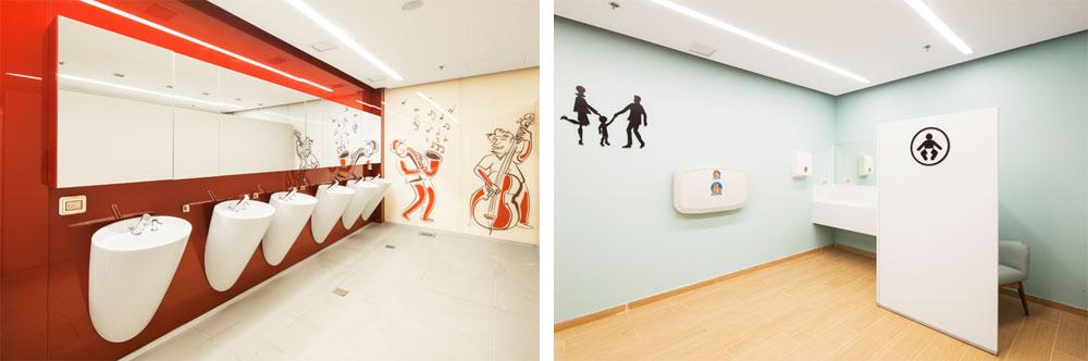 יש כאן, וגם בקניון רמלה, ''חדר משפחה'' עם שירותים לילדים בוגרים, להחתלה ולמשחק (צילום: אביעד בר נס )