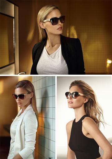 """בר רפאלי לקרולינה למקה. """"אנחנו לא מוכרים משקפיים - אנחנו מוכרים אופנה"""" (צילום: אייל נבו)"""