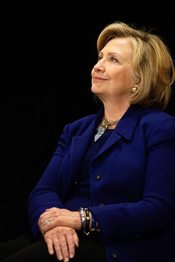 הילארי קלינטון. קיבלה מג'ובס תרומה של 25 אלף דולר (צילום: gettyimages)