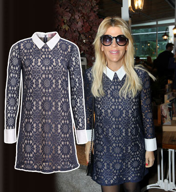 סנדרה רינגלר מתוקה מתמיד בשמלת הפיטר פן שלה מבית סקנד (349 שקל) (צילום: שי נייבורג, שוקה כהן)