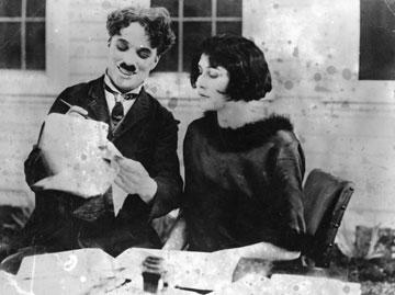 צ'פלין ואשתו השנייה ליטה גריי (צילום: gettyimages)