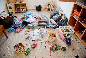 בחדרי משחקים של שני ילדים ומעלה, הפרידו בין סוגי המשחקים כדי למנוע מריבות (צילום: עדי שביט)
