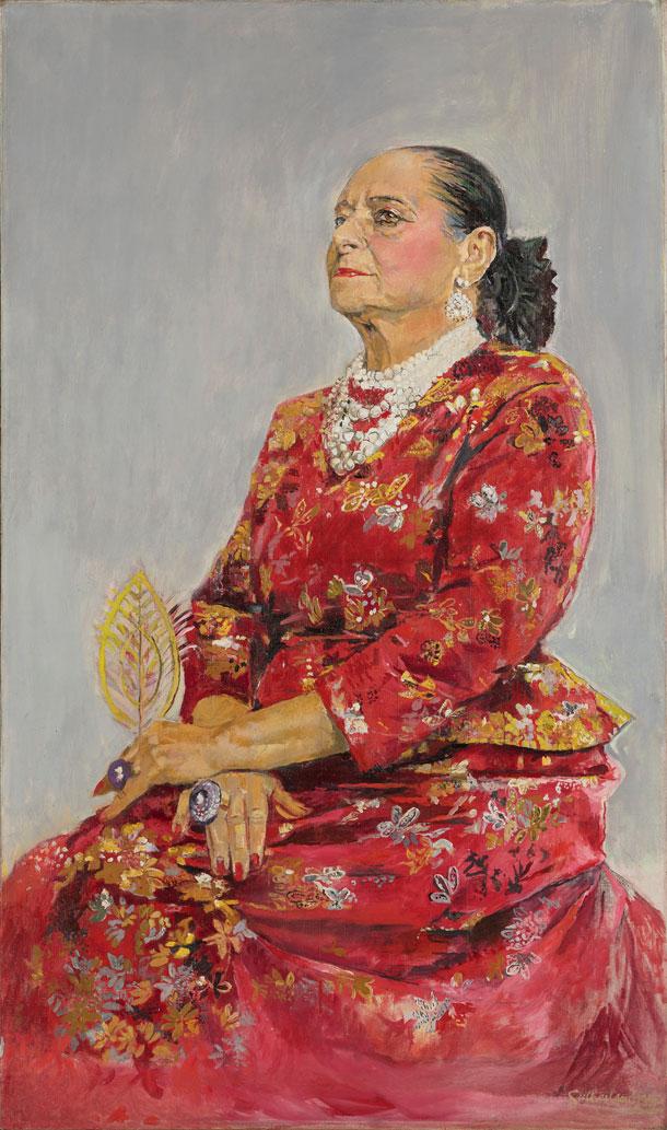 """הלנה רובינשטיין. זכתה לכינוי """"מאדאם"""", ביטוי להערצה מהול בשמץ של ביקורת על נטייתה לדרמה ולמגלומניה (© Estate of Graham Sutherland)"""