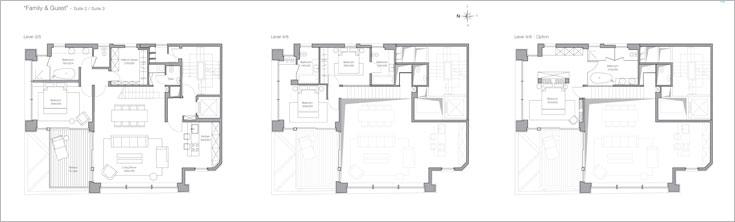 תוכנית דירת דופלקס, עם שתי אופציות שונות לקומת הגלריה