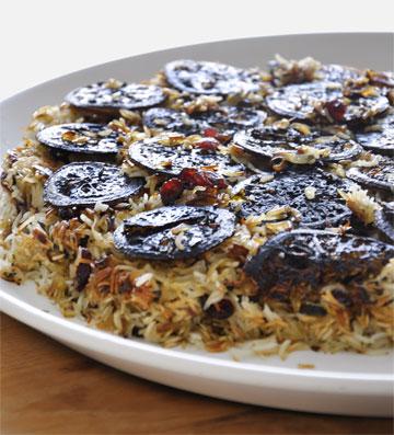 אורז עם לימונים מקורמלים (צילום: סיון שטרנבך)