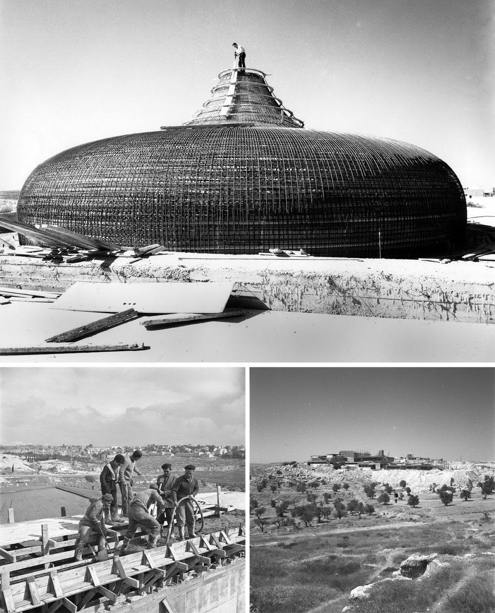 ההקמה. ב-1957 החלה היוזמה, ובעזרת גיוס תורמים יהודים ומימון נדיב מארצות הברית, הושלם הפרויקט השאפתני ב-1965 (באדיבות מוזיאון ישראל, ירושלים)
