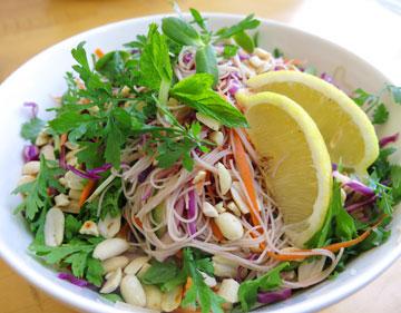 סלט וייטנאמי עם אטריות אורז (צילום: גלי לופו אלטרץ)