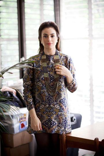 לילך אלגרבלי. ''השמלה מצאה חן בעיניי בקלילותה'' (צילום: סם יצחקוב)