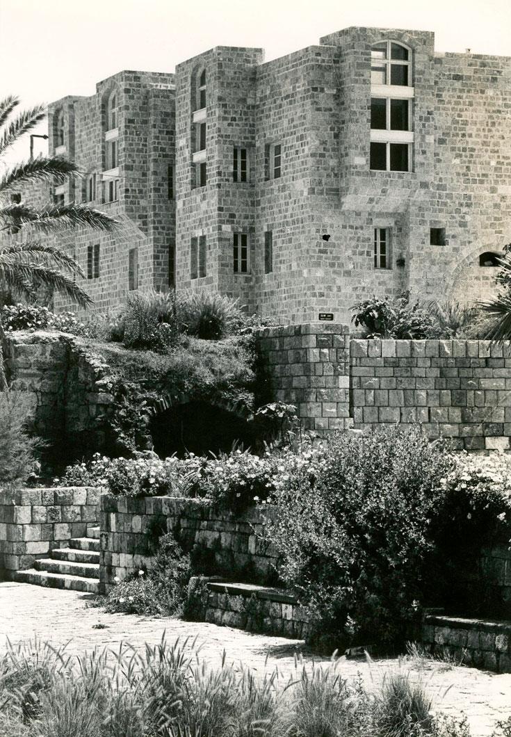 מבנים שתיכנן פרנקל ביפו העתיקה (צילום: אליעזר פרנקל)