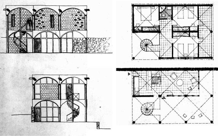 התוכניות לבתי המגורים בעין הוד, 1958