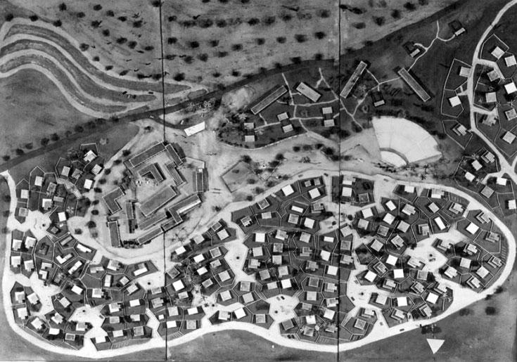 מודלים לבתי מגורים טיפוסיים בעין הוד. הצעתו של פרנקל, 1958
