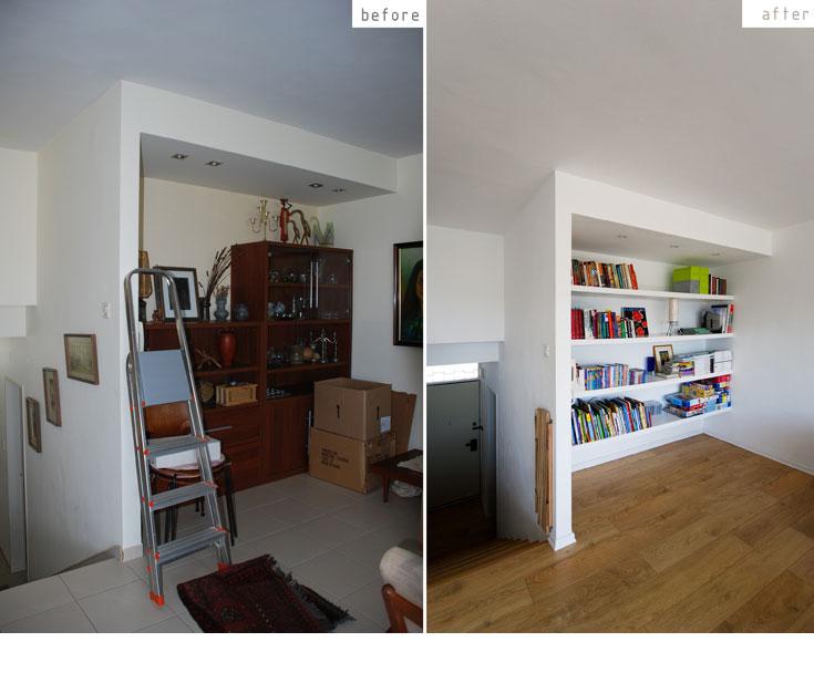 רקע לבן עם נגיעות של עץ, כשאת הצבעוניות מעניקים פריטים כמו משחקי ילדים והספרים (צילום: יהב מרום)