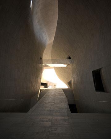 המוזיאון לתולדות יהדות פולין. הבנייה תקועה (באדיבות Architects Lahdelma and Mahlamaki)