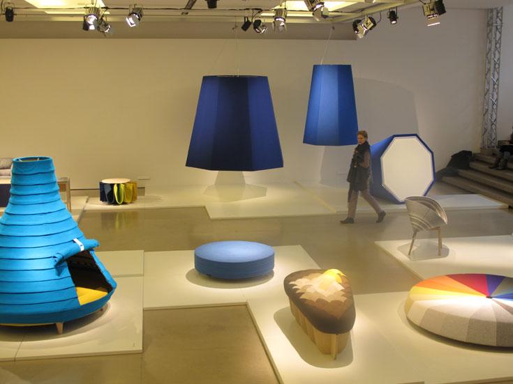 התערוכה, שהייתה אחת הטובות בשבוע העיצוב, נערכה בחלל התצוגה של בית האופנה ג'יל סאנדר (צילום: איתי כ''ץ)