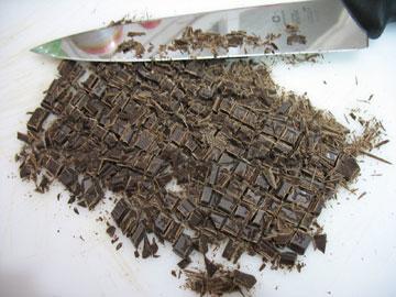 ...ואז לאורך - ויש לכם שוקולד צ'יפס! (צילום: בישול בזול)