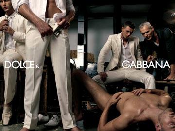 הקמפיין של דולצ'ה וגבאנה. מקרה בודד של שימוש במודל הומוסקסואלי