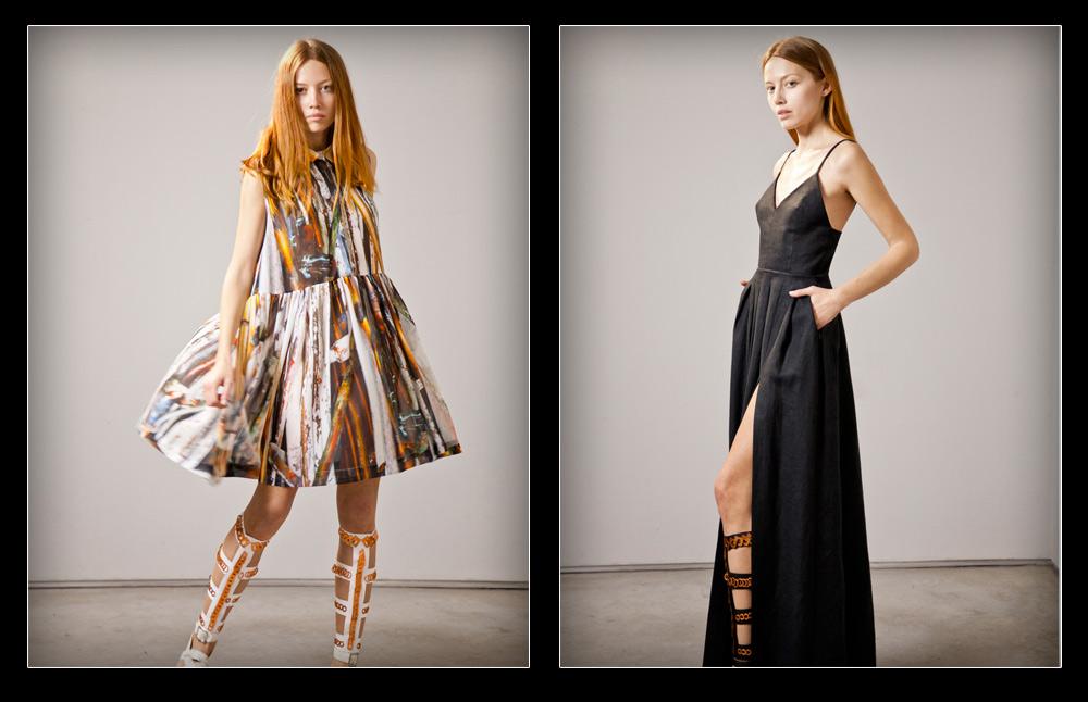 Common Raven. קולקציה שלישית של מעצבת האופנה הצעירה רחל כהן  (צילום: אהוד איתן)