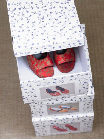לשליפה מהירה: מצלמים את הנעליים ומדביקים את התמונה על הקופסה (צילום: thinkstock)