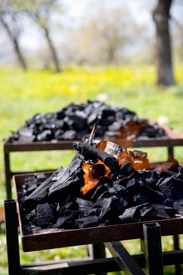 אל תחסכו בפחמים - כמות קטנה מדי תייצר חום לא אחיד (צילום: רן גולני)