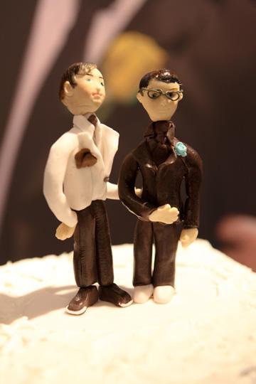 עוגת החתונה של כפיר בנישו ויניב ויצמן (צילום: סמדר כהנא)