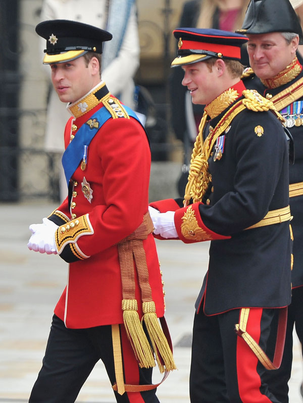 עם אחיו, הנסיך וויליאם, בחתונתו, אפריל 2011 (צילום: gettyimages)