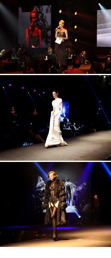 תצוגת האופנה של טיירי מוגלר בהנחייתה של גלית גוטמן (צילום: אורית פניני)