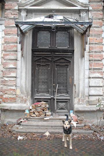 הדלת, בביתה הקודם בבוקרסט, רומניה (צילום: איילון ערמון)