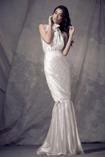 שמלת כלה בעיצוב יעקב דוק. יציג בשבוע האופנה לכלות (צילום: שי יחזקאל)