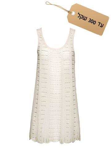 רומנטית: שמלת מיני בגזרה מתרחבת, 190 שקל, הוניגמן (צילום: אודי דגן)