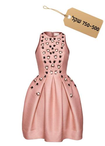 רומנטית: שמלה בגזרת בלון בעיטור אבנים, 599 שקל, קולקציית קונצ'ס של H&M (צילום: הנס מוריץ)