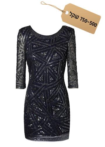 נוצצת: שמלת מיני שחורה בעיטור פאייטים, 719.90 שקל, מנגו (צילום: ליה רובירס)
