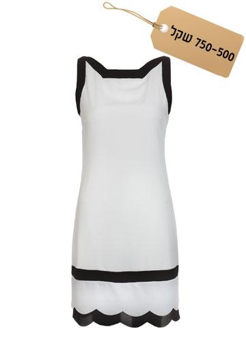 קלאסית: שמלה בגווני שחור ולבן, 649 שקל, נעמה בצלאל (צילום: ניר יפה)