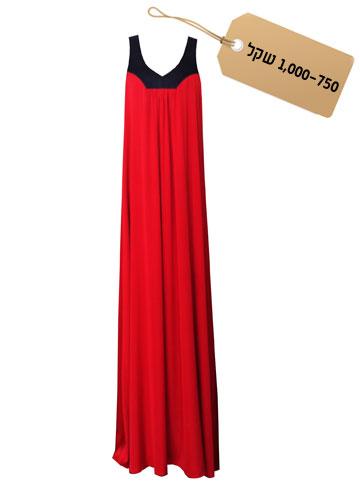 רומנטית: שמלת מקסי בשילוב של אדום ושחור, 980 שקל, Sister M (צילום: רעיה מיטרני)