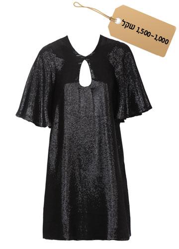 קלאסית: שמלת מיני בגזרה מתרחבת עם שרוולים רפויים, 1,100 שקל, לי גרבנאו וקרן בנקר לעלמה (צילום: אבי ולדמן)