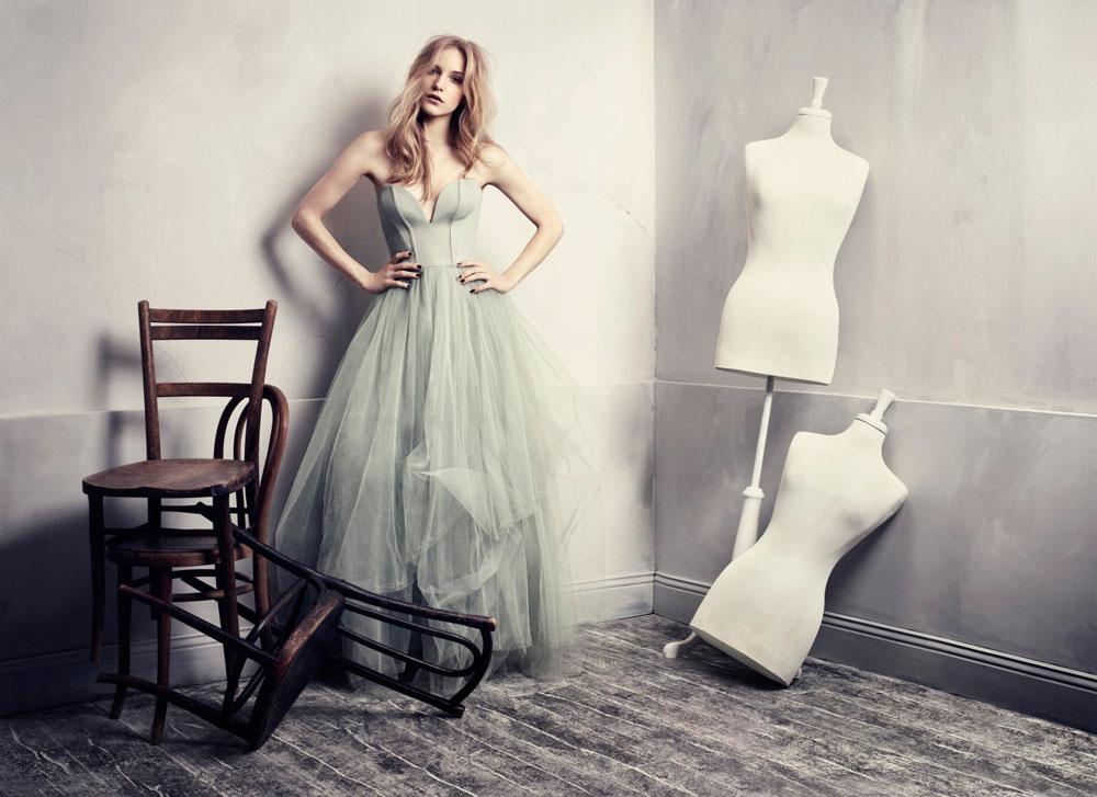 רומנטית בנשמתך? שמלה מקולקציית הקונצ'ס של H&M (צילום: מרכוס אולסון)