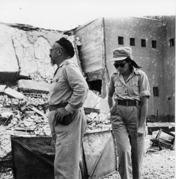 משטרת בית ג'ברין בשנות ה-40. המצודה שלטה היטב על הסביבה (באדיבות אוצר תמונות הפלמ''ח)